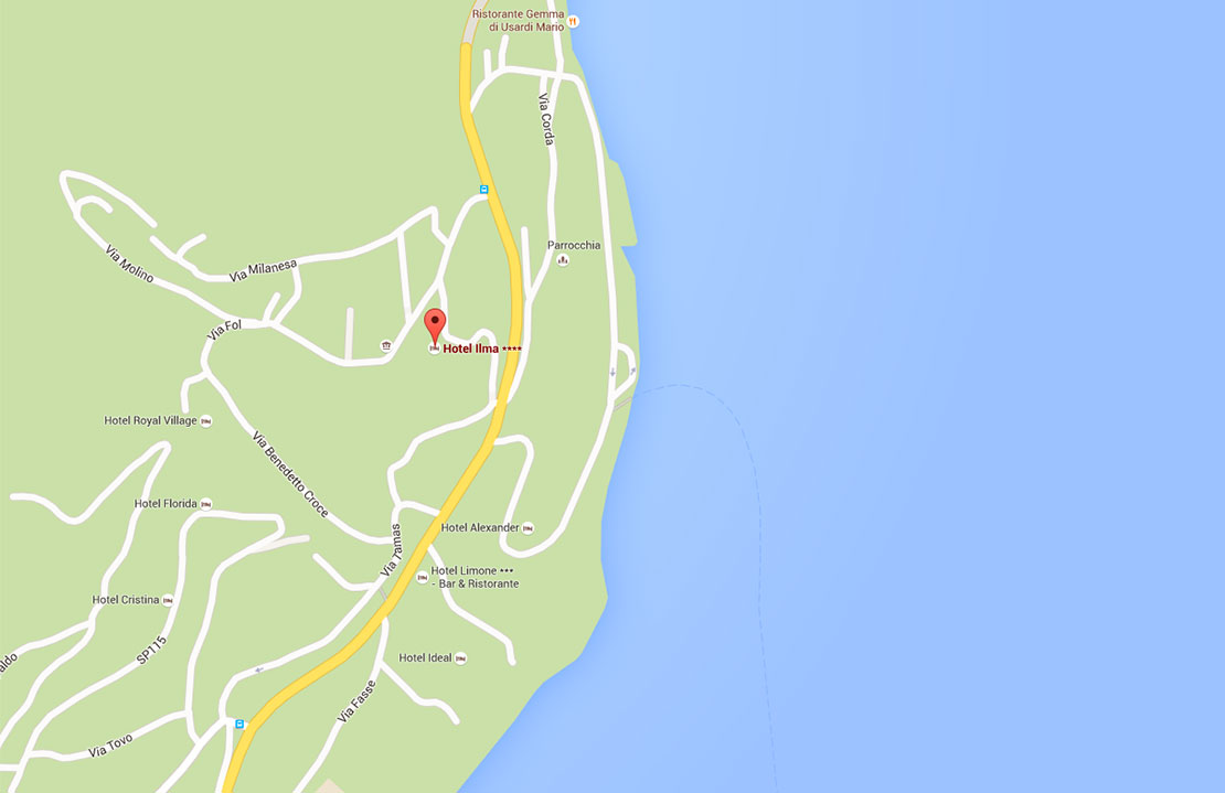 Karte Gardasee und Limone sul Garda